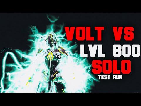 Volt Solo Lvl 800 Enemies BEST Setup| Max Charge Setup| Warframe