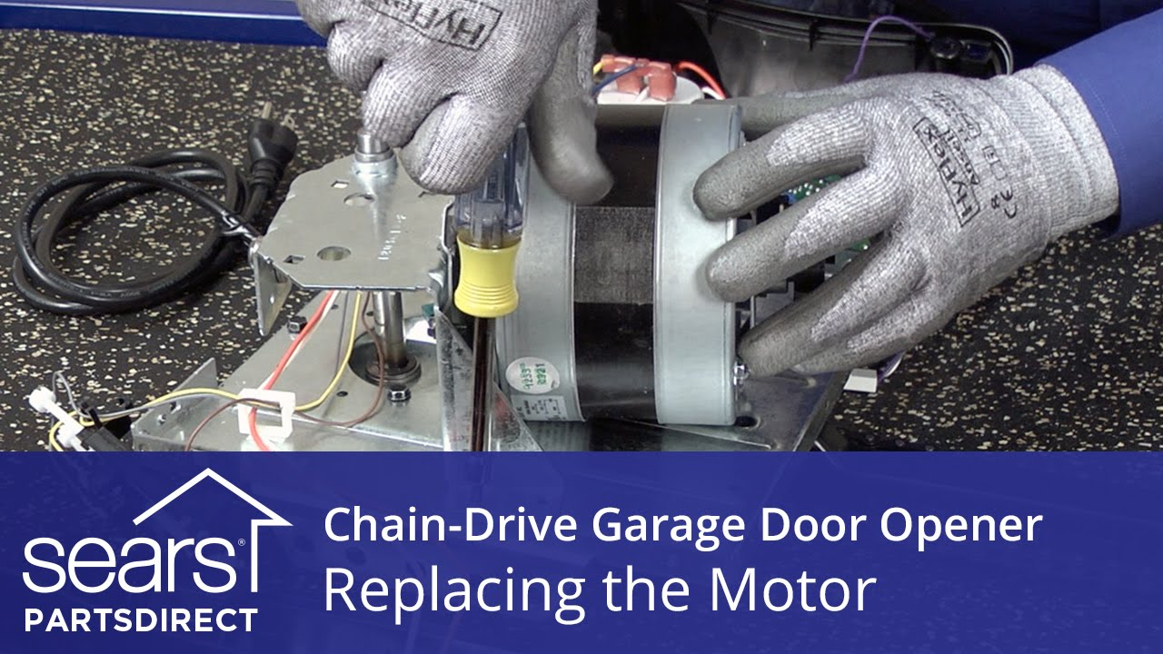 Replacing the motor on a chain drive garage door opener for Garage door replacement motor