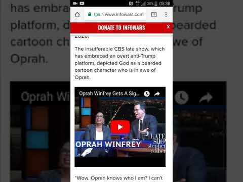 RE: 'God' Appears On Cbs For Oprah 2020 Run! (GMSEsauExposed)