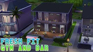 Let's Play The Sims 4: Fresh Fit Gym & Bar Building