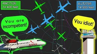 Avianca and Austral ALMOST COLLIDE MIDAIR | Insults on frequency!