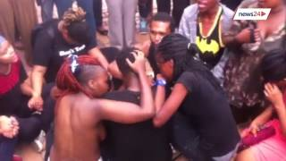 Repeat youtube video Wits 'naked' protest: Students protest against rape culture in solidarity with Rhodes