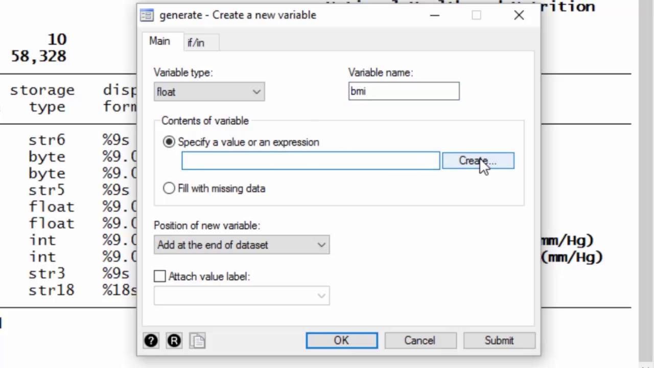 Data management: How to create a new variable that is calculated from other  variables