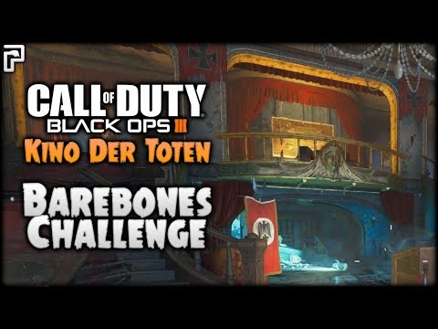 The RAW Zombies Experience | Barebones Challenge | Kino Der Toten (Call of Duty Black Ops 3 Zombies)