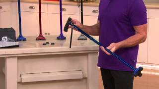 HurryCane Freedom Edition Walking Cane with Extra Feet and Carry Bag with Dan Hughes