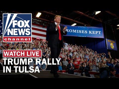 Trump holds MAGA rally in Tulsa, OK