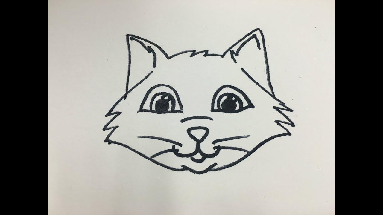 Draw Cartoon Cat Head Cartoonjdi Co