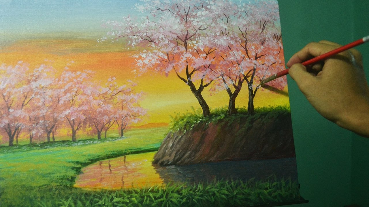 Simple Acrylic Landscape Paintings | www.imgkid.com - The ...