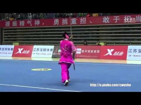 2015年全国武术套路冠军赛 女子枪术 阚文聪(河北)第一名
