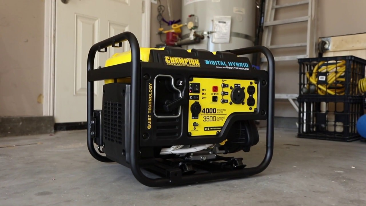 Champion 3500 Watt Rv Ready Digital Hybrid Portable Generator Overview 100302