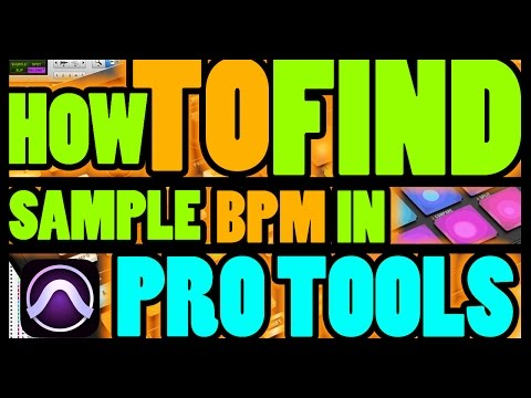How To Find Sample Tempo (BPM) | Pro Tools | Match Session BPM w. Loop | German w./ English Subtitle
