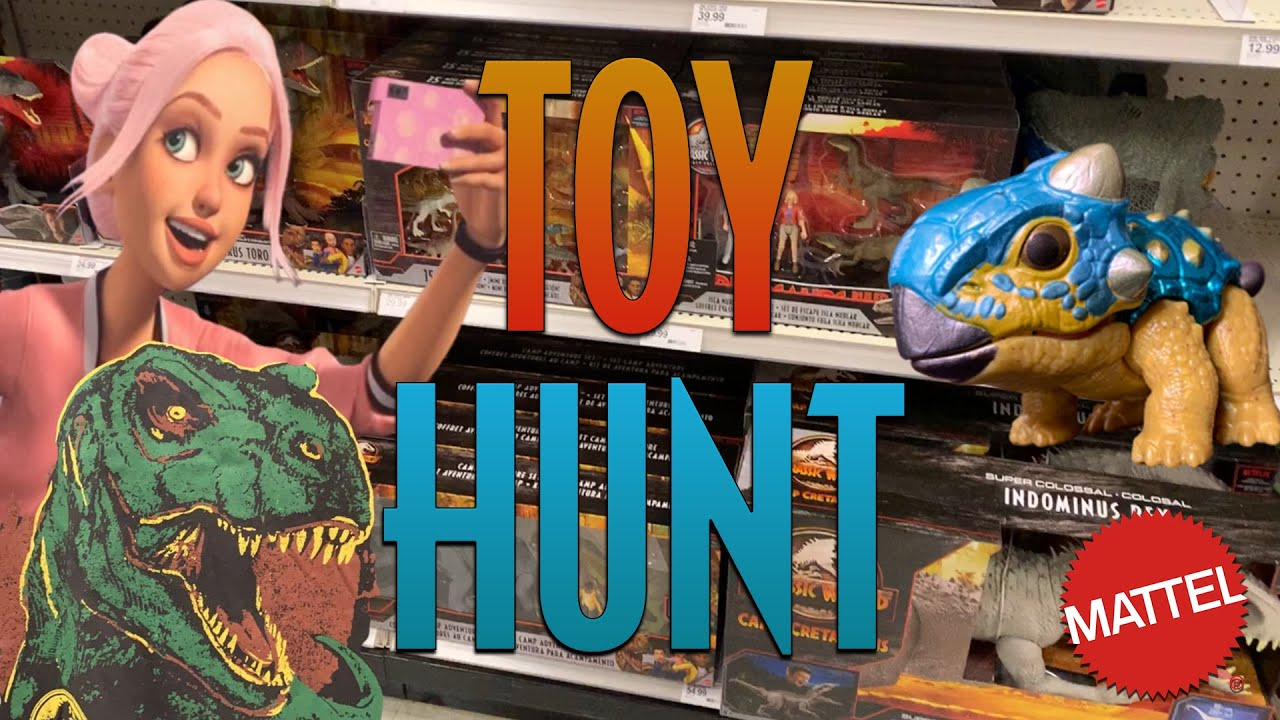 Camp Cretaceous Toy Hunt   Spending $25 Gift Card + Jurassic Shirts   Mattel Jurassic World
