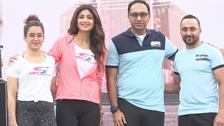 Shilpa Shetty Sanya Malhotra And Rahul Bose Flag Off For Walkathon   Shilpa Shetty Interview 2018