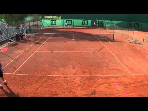 Tenniksen yleisten luokkien SM-kilpailuiden miesten kaksinpelin välieräottelu (29.6.2012)