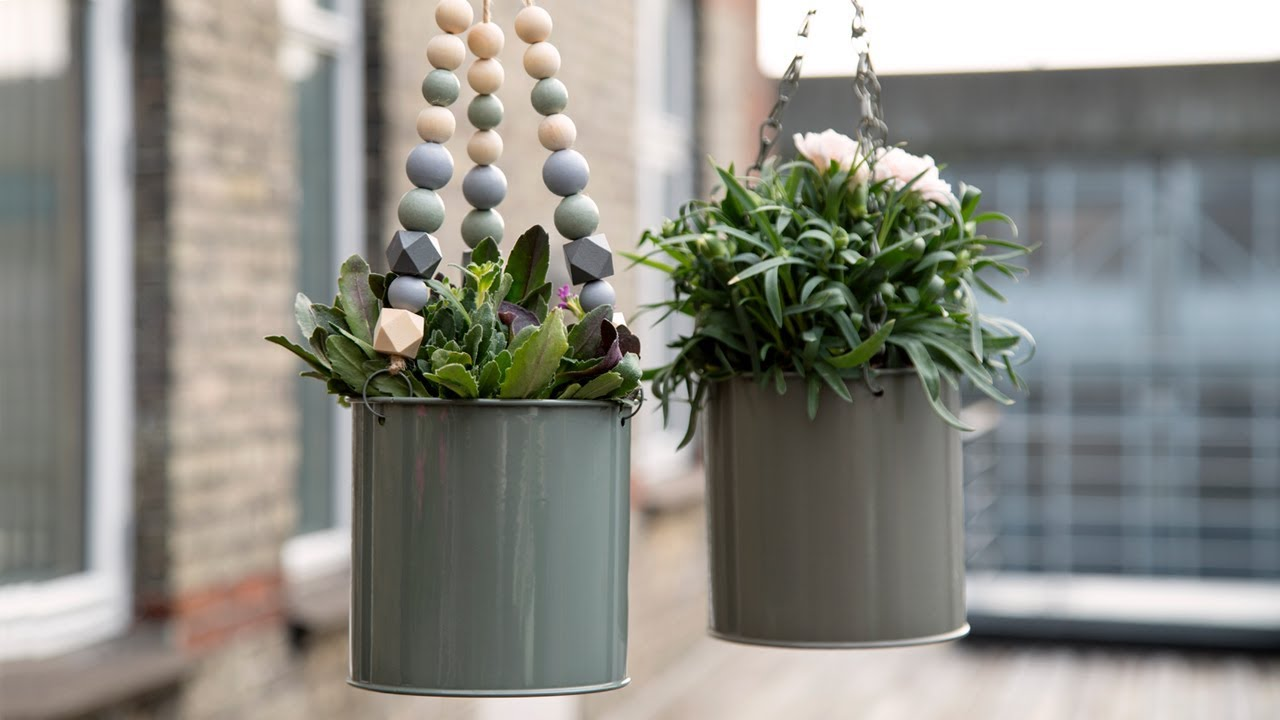 Diy Hanging Flower Pot Youtube
