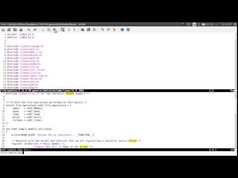 Linux Device Drivers Training 06, Simple Character Driver