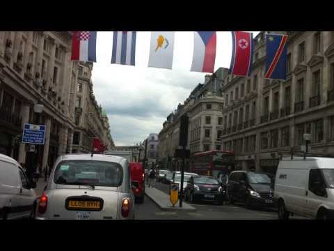 London streets (67.) - Regent streets with flags - Piccadily circus - Pall Mall