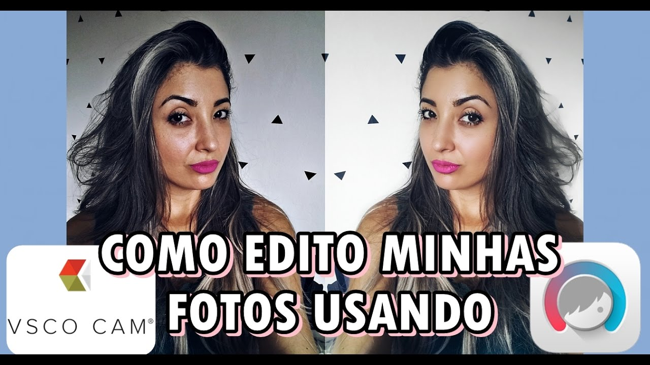 Como Edito Minhas Fotos Vsco Cam E Facetune Youtube