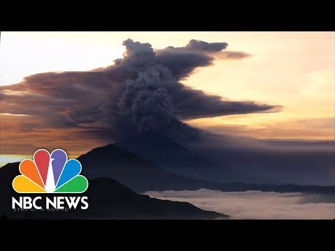 Cold Lava Pews Out Of Volcano Mount Agung As Bali Braces For Eruption | NBC News