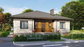 Проект одноэтажного дома с тремя спальнями 134 кв.м. | SketchUp + Lumion 8