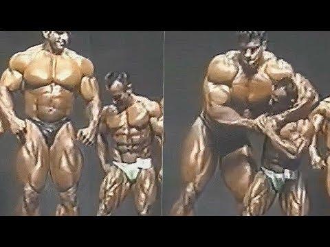 Tallest Bodybuilder Lou Ferrigno (HULK) Posing vs. The Smallest Bodybuilder