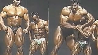Tallest Bodybuilder Lou Ferrigno (HULK) Posing vs. The Smallest Bodybuilder