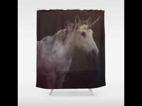 Unicorn Shower Curtain - Horse - Unicorn - Art Photography -