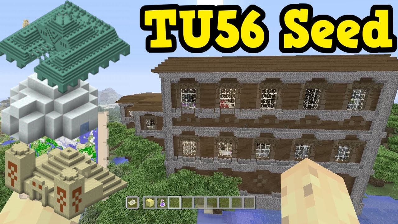 Minecraft Xbox One PS TU Seed With DIFFERENT Structures - Minecraft geheime hauser