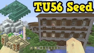 Minecraft Xbox One / PS4 - TU56 Seed With 5 DIFFERENT Structures