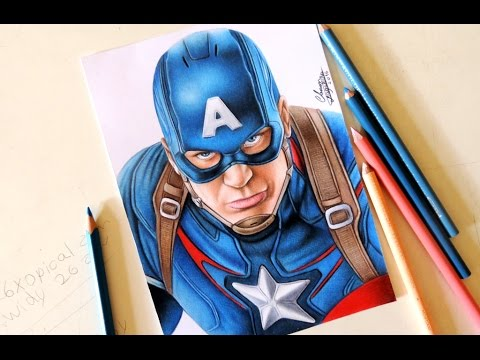 Drawing Captain America Desenhando O Capitao America 2 Youtube