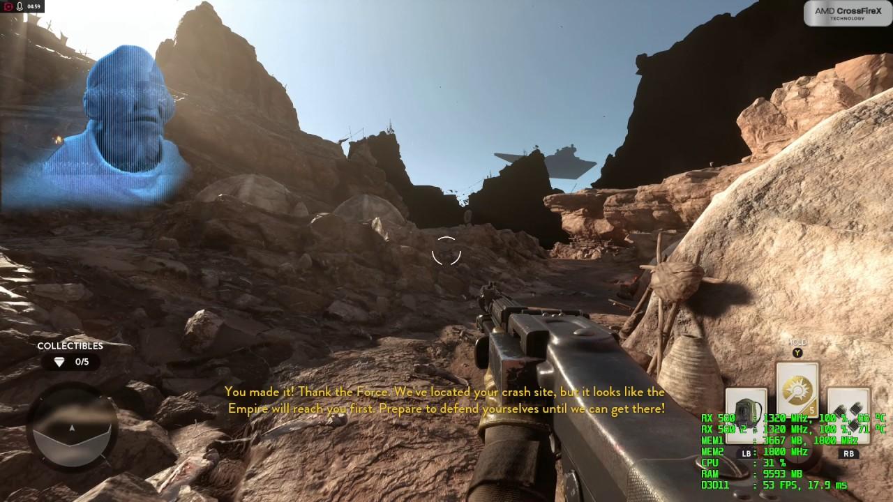 Star Wars Battlefront Gameplay - Rx 560 Crossfire