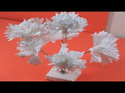 Crafts Idea    How to make tissue paper flowers EASY    DIY Crafts    Tam's Crafts Idea