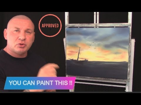 Oil Painting Lessons: Painting Tutorial Oil Painting Sea Sunset - Paintwithmark