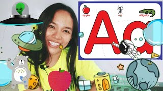 Online learning: lesson 1(letter Aa) for preschoolers and kindergartens