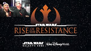 Rise of the Resistance REACTIONS! Ride Cam for our FIRST LOOK
