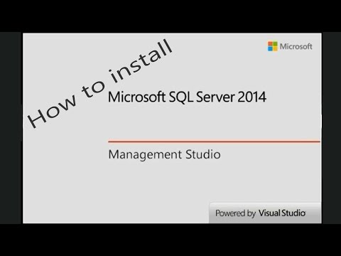 How to Install SQL Server 2014 Express and SQL Server Manage