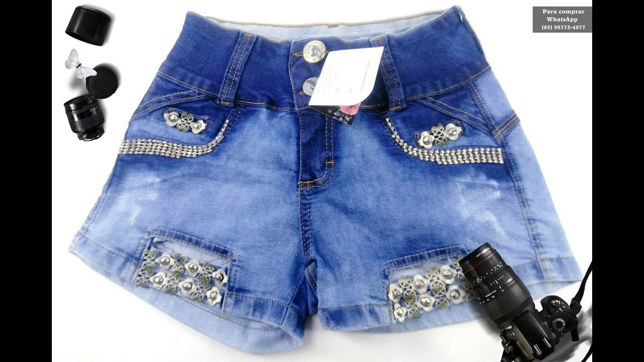 6e4d0a99975 Coleção de Short Jeans Luxo compre no atacado pelo WhatsApp 85 98773 48771