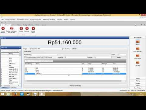 video tutorial aplikasi bengkel Dealer full Akuntansi