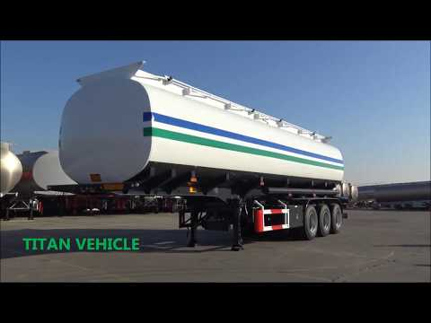 TITAN 40,000~46,000 Liters Oil Tank Fuel Tank Truck Trailer Fuel Tanker Semi Trailer For Sale
