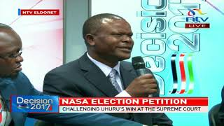 Challenging Uhuru's win at the supreme court, what does NASA need to do?