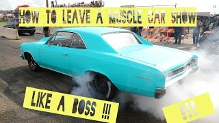 How to leave a Muscle Car Show like a BOSS!! ( Cars & Coffee ) ( Pure v8 Sound )