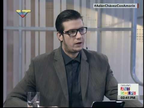 Entrevista al ministro de Cultura Adán Chávez Frías en programa Con Amorín