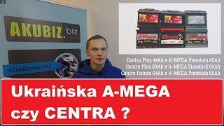 Ukraińskie akumulatory A-MEGA czy akumulator CENTRA? Test porównawczy akumulatorów.