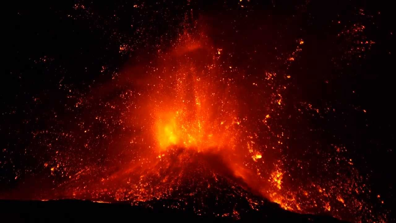 Eruption Of Volcano Etna  Spectacular Paroxysm
