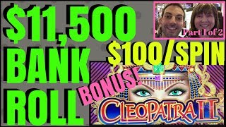 💰 11,500 Bank Roll Group Pull ✦ $100-$200/SPIN ✦ High Limit Slot Pokie Machines EVERY FRIDAY 1 of 2