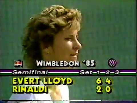 Chris Evert vs Kathy Rinaldi - 1985 Wimbledon SF (2/2)