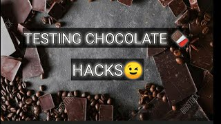 TESTING CHOCOLATE HACKS FROM 5 MIN CRAFTS   SISTER'S VLOGS