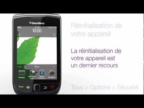 BlackBerry Torch 9800 - Réinitialisation de votre appareil