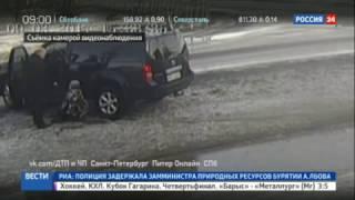 В Ленинградской области, в Приозёрске водитель внедорожника сбил ребёнка и поставил на колени !!!