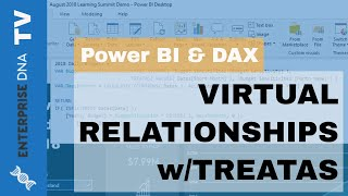 خلق علاقات افتراضية باستخدام TREATAS - Advanced Power BI تقنية